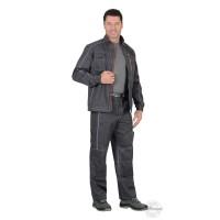 АЛЕКС костюм летний мужской, куртка, брюки, темно-серый