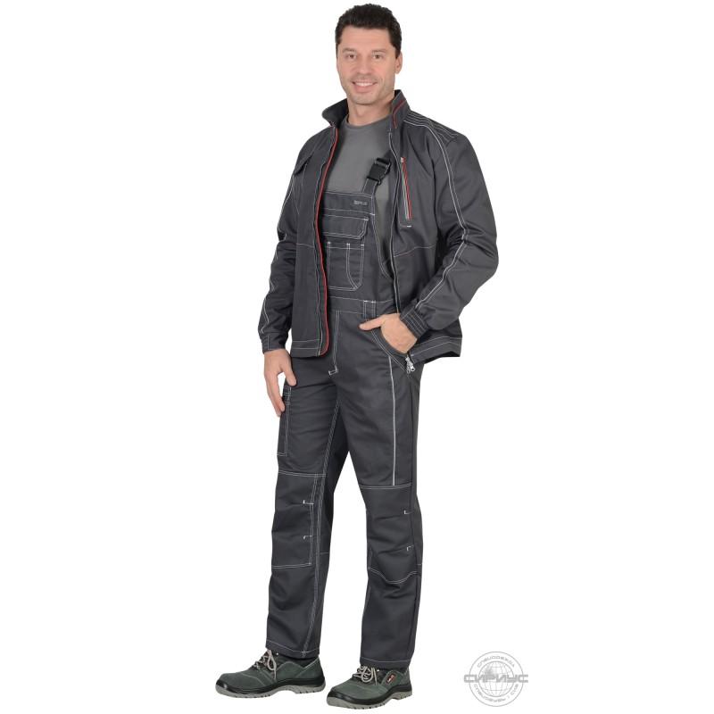 АЛЕКС костюм летний мужской, куртка, п/к, темно-серый