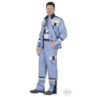 БОСТОН костюм, куртка кор., п/комб., сиреневый с молочным и синим и СОП