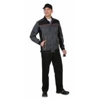 ПРЕСТИЖ костюм, куртка,п/к, цв. серый с оранжевым кантом