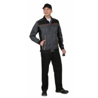 ПРЕСТИЖ костюм, куртка,брюки, цв. серый с оранжевым кантом