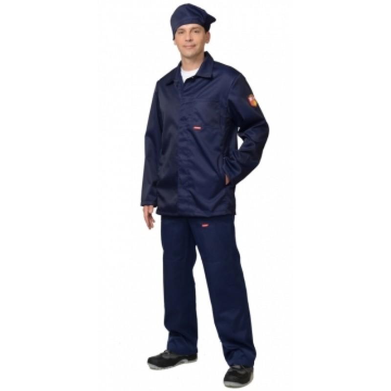 КЩС костюм летний мужской, куртка, брюки, берет синий, с шевроном