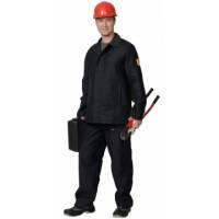 ОГНЕСТОЙКИЙ костюм х/б, куртка, брюки (молескин) чёрный
