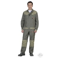 ВЕСТ-ВОРК костюм летний, куртка длин., брюки, оливковый