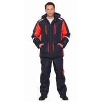 САТУРН костюм зимний, куртка дл.,брюки т.синий с красным и СОП 50 мм