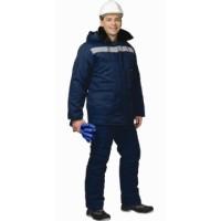 СЕВЕР (МТ2-4 кл. пояс) костюм зимний, куртка дл., брюки темно-синий СОП