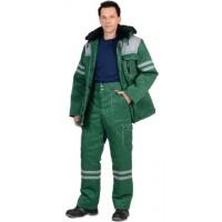 ЛИДЕР костюм зимний, куртка дл., брюки, зеленый с серым и СОП
