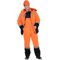 МАГИСТРАЛЬ-УЛЬТРА костюм зимний, куртка, п/комб. оранжевый с черным тк. Гретта