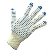 Перчатки рабочие х/б с ПВХ 4-х нитка