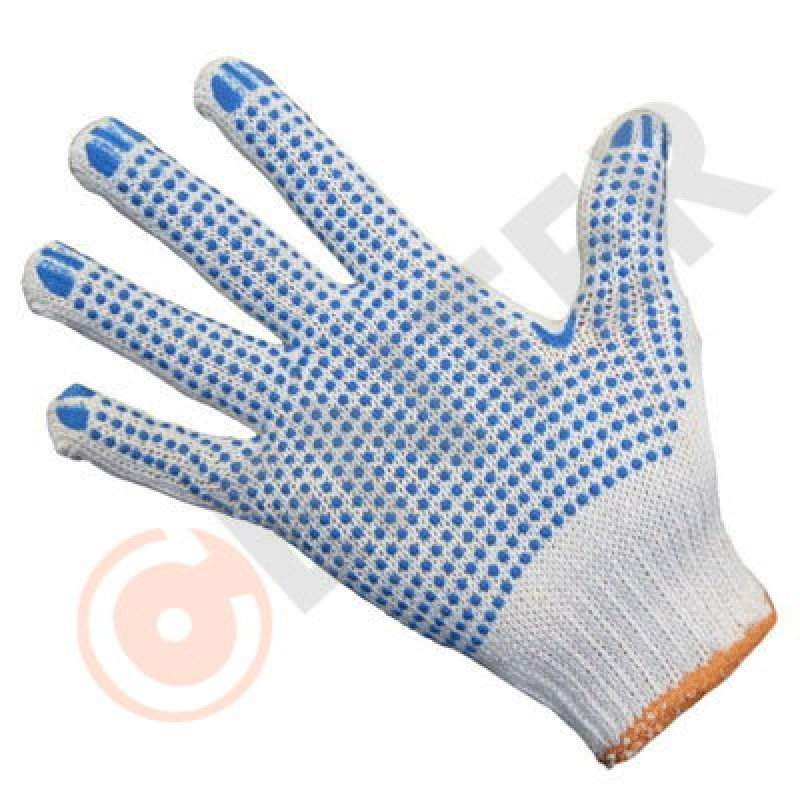 ТОЧКА перчатки хб с ПВХ Экстра 5-ти нитка