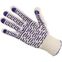 ВОЛНА перчатки рабочие х/б с ПВХ 5-ти нитка