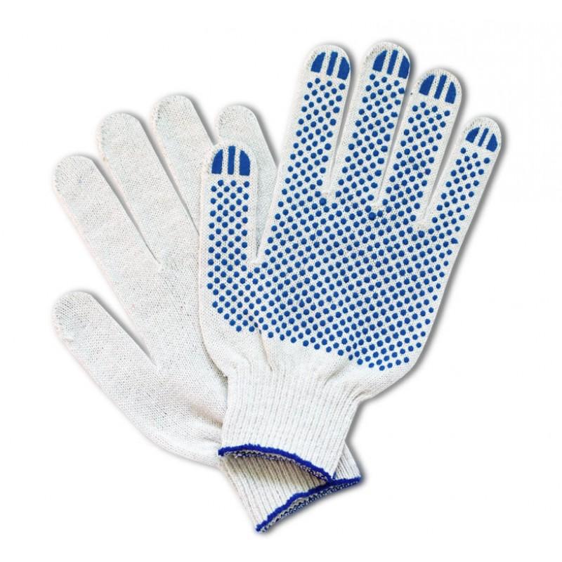 ТОЧКА перчатки хб с ПВХ, Люкс, 5-ти нитка