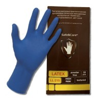 SAFE CARE перчатки латекс аналог Дермагрип (25 пар в уп.)