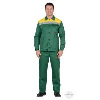 СТАНДАРТ костюм, куртка, брюки зеленый с желтым и СОП