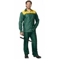 СТАНДАРТ костюм, куртка, брюки зелёный с жёлтым