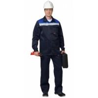 СТАНДАРТ костюм, куртка, брюки тёмно-синий с васильковым и СОП 50 мм