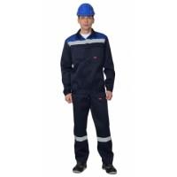 СТРОИТЕЛЬ костюм, куртка короткая, п/к синий с васильковым и СОП