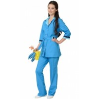ФЛОРА костюм женский, куртка, брюки тёмно-голубой