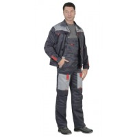 ФАВОРИТ костюм летний, куртка,брюки т.-серый с серым тк.CROWN-230