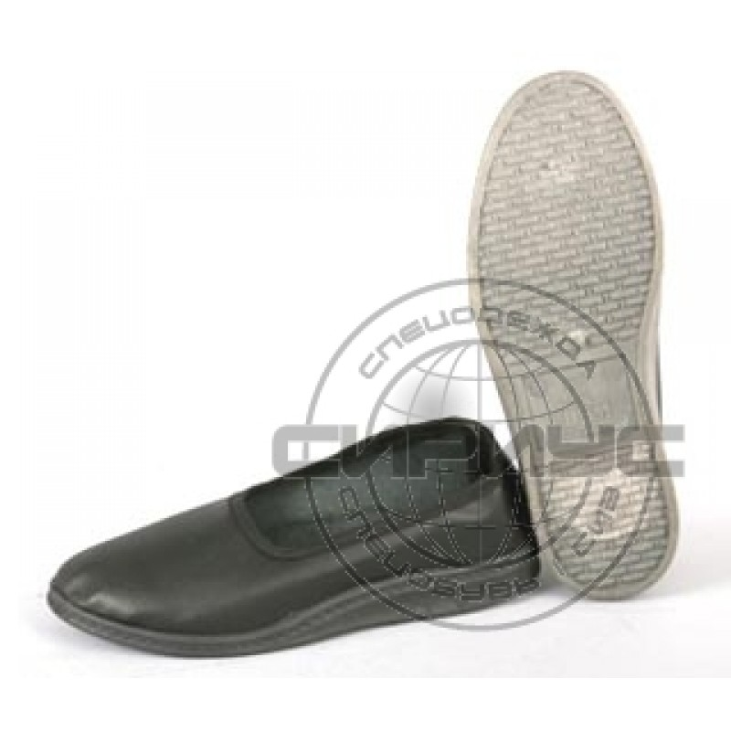 Тапочки-туфли рабочие (искусственная кожа, ПВХ) женские