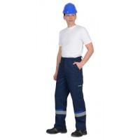 БОСТОН брюки темно-синий с васильковой и чер. отд.