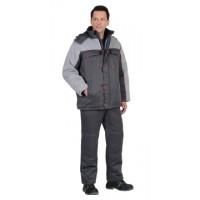 ФАВОРИТ костюм зимний, куртка дл., брюки тёмно-серый с серым тк. CROWN-230