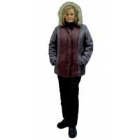 КАРЕЛИЯ костюм женский бордовый с тёмно-серым