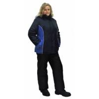 КАРЕЛИЯ костюм женский тёмно-синий с васильковым