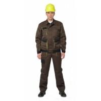 ЧИКАГО костюм мужской, куртка укор.,п/комб. (т.-коричневый с черным) тк.CROWN-230