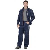 АЛЕКС костюм муж. летний, куртка, брюки, темно-синий
