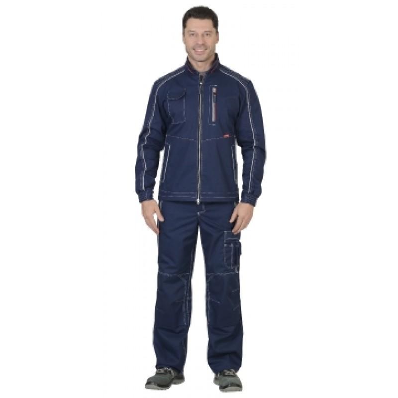 АЛЕКС костюм муж. летний, куртка, п/к, темно-синий