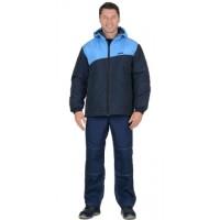 ЭРИДАН куртка утепленная, темно-синяя с голубым