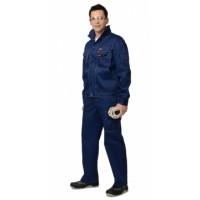 ПЛУТОН костюм, куртка, брюки тёмно-синий со светло-серой отстрочкой