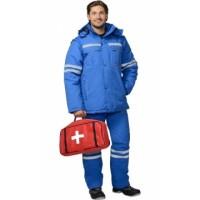 СКОРАЯ ПОМОЩЬ костюм мужской зимний, куртка, полукомбинезон васильковый