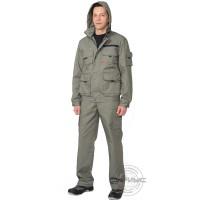 БАЙКАЛ костюм, куртка кор., брюки оливковый тк. Rodos (245 гр/кв.м)