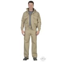 БАЙКАЛ костюм, куртка кор., брюки песочный тк. Rodos (245 гр/кв.м)
