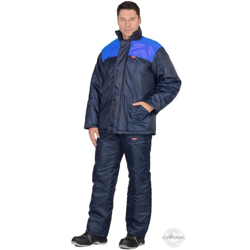 РОСТ костюм, куртка дл., брюки синий с васильковым