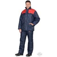 РОСТ костюм, куртка синяя с красным, брюки темно-синие