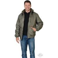 ПРАГА-ЛЮКС куртка с капюшоном, оливковая
