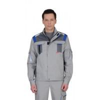 СТАН куртка св.серый со средн.серым и васильковым