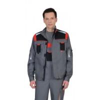 СТАН куртка ср-серая с черной и красной отделкой