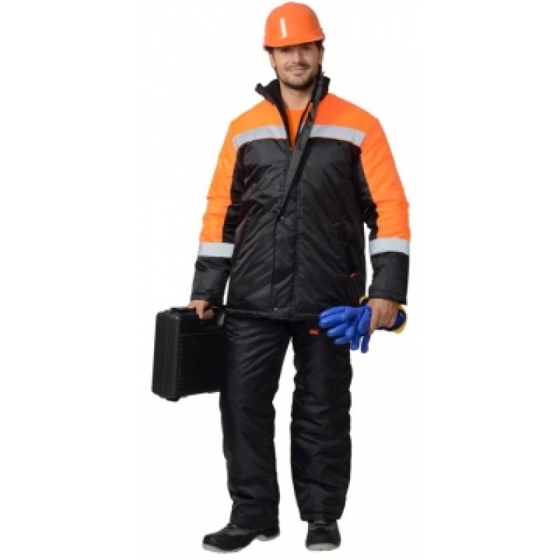 ГАСТАРБАЙТЕР куртка дл.,чёрная с оранжевым и СОП