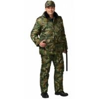СИРИУС-ОХРАННИК костюм зимний, куртка дл., полукомбинезон КМФ зелёный