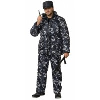 СИРИУС-ОХРАННИК костюм зимний, куртка, полукомбинезон КМФ серый