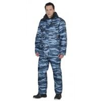 ОХРАННИК костюм зимний, куртка, п/комб. КМФ серый вихрь