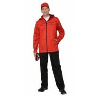 СИРИУС-МЕЛЬБУРН костюм, куртка, брюки красный с черным кантом тк.Rodos (245 гр/кв.м)