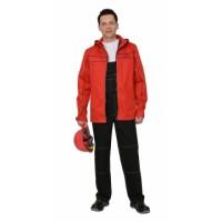СИРИУС-МЕЛЬБУРН костюм, куртка, п/к красный с черным кантом тк.Rodos (245 гр/кв.м)
