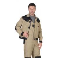 ВЕСТ-ВОРК куртка короткая, бежевая с черным