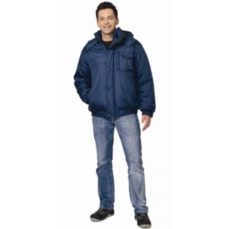 ОЛИМП куртка кор. мужская синяя с черной окантовкой