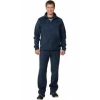 Костюм флисовый, джемпер, брюки тёмно-синий